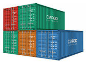 Set of cargo containers — Stock Photo