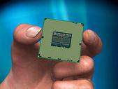 Processor in hand — Stock Photo