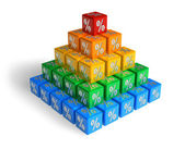 Pyramid of percents — Stock Photo