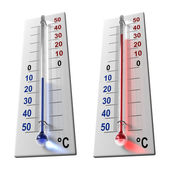 Set of thermometers — Stock Photo