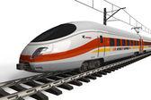 Modern yüksek hızlı tren — Stok fotoğraf