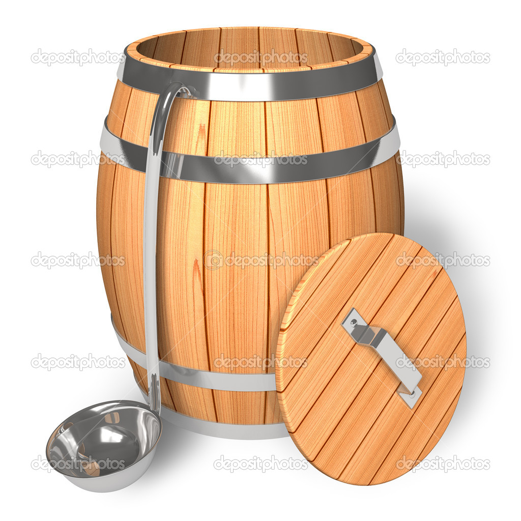 opened wooden barrel with scoop stock photo scanrail. Black Bedroom Furniture Sets. Home Design Ideas