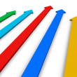 Stock Photo: Color arrows