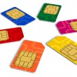 Circle from color SIM cards - Stockfoto