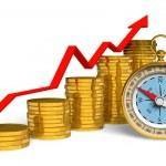 Financial compass — Stock Photo #4186217