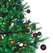 Decorated Christmas tree background — Stock Photo