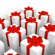 Set of gift boxes — Stock Photo #4186300