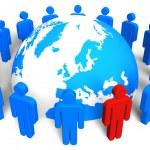 concept de réseau social — Photo