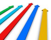 Color arrows — Stock Photo