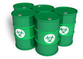 Poisonous barrels — Stock Photo