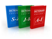 3-volume dictionary — Stock Photo