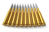 Bullets for sniper rifle — Stock Photo