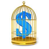 Dollar in kooi — Stockfoto