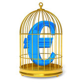 Euro in cage — Stock Photo