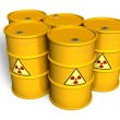 Radioactive barrels — Stock Photo #4209460