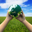 Stockfoto: Earth in hands