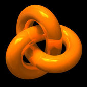 Abstract orange endless loop — Stock Photo