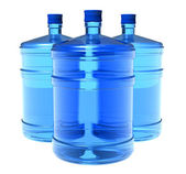 Set of big bottles of water — Stock Photo