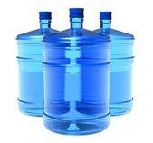 Set of big bottles of water — Stock Photo