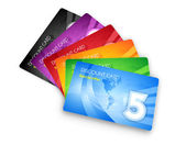 Set of discount cards — Stock Photo