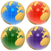 Set of color globes — Stockfoto
