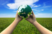 Earth in hands — Stock Photo