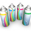 Stock Photo: Spray cans