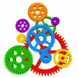 Stock Photo: Color gears