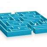 Blue labyrinth — Stock Photo #4222464