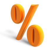 Percent symbol — Stock Photo