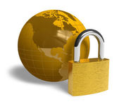 Global security concept — Stock Photo
