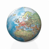 Physical globe, European side — Stock Photo