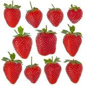 孤立草莓一套 — 图库照片