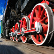 Stock Photo: High speed steam locomotive