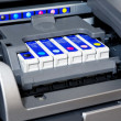 Ink cartridges in printer - Stock Photo