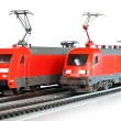 Stock Photo: Miniature trains