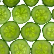 Stock Photo: Tiled cucumbers background