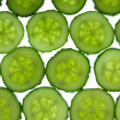 Tiled cucumbers background — Stock Photo