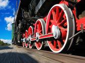 High speed steam locomotive — Stock Photo
