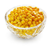 Sweetcorn in crystal bowl — Stock Photo