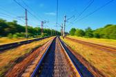 モーションの線路 — ストック写真