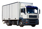 White delivery truck — Stockfoto
