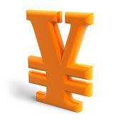 Yen symbol — Stock Photo