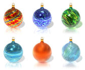Set of color Christmas balls — 图库照片
