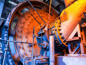 Working coal mixer at the metallurgical plant — Stok fotoğraf