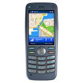 Mobile phone with GPS navigation — Stock Photo