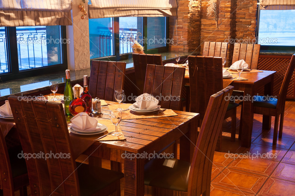 vintage restaurant interior stock photo scanrail 4273973. Black Bedroom Furniture Sets. Home Design Ideas