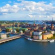 Aerial panorama of Stockholm, Sweden — Foto Stock