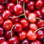 Fresh cherries background — Stock Photo