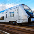 Modern high speed train with motion blur — Stock Photo #4286612